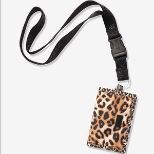 Vs Victorias Secret Pink Lanyard Leopard